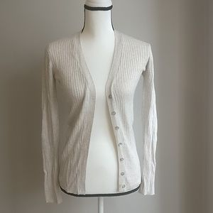 Zara Beige V neck Button up Cardigan